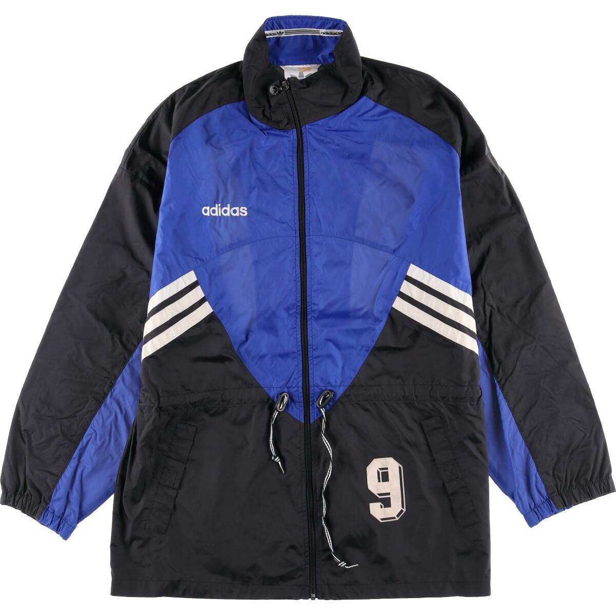 80~90年代 アディダス adidas ナンバリング バックプリント フロッキープリント ナイロンジャケット メンズXL ヴィンテージ /eaa024568  【200507】:古着屋JAM