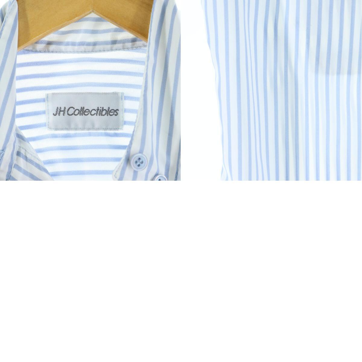JH Collectibles ストライプ柄 スタンドカラー 長袖 ポリシャツ USA製 レディースMeaa038451200521QxWrdeBoC
