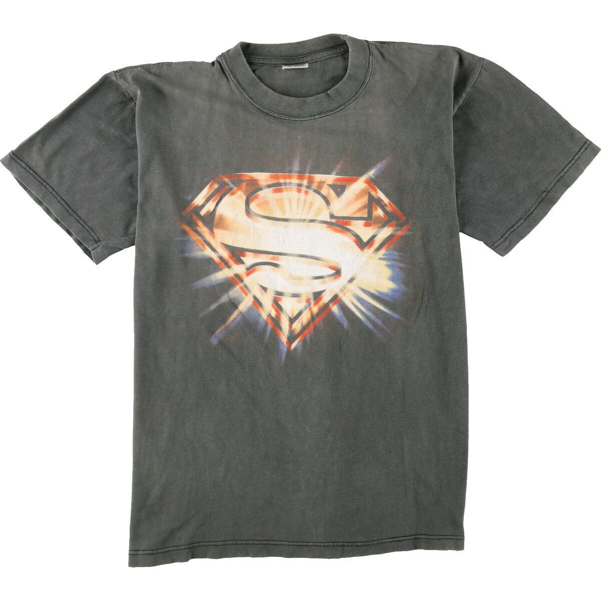 SUPERMAN スーパーマン 映画 ムービーTシャツ メンズM eaa050846 中古 オーバーのアイテム取扱☆ オリジナル 200628 JS2010 KF2012 SS2106 CS2101 SS2012 SS2009 SS2101