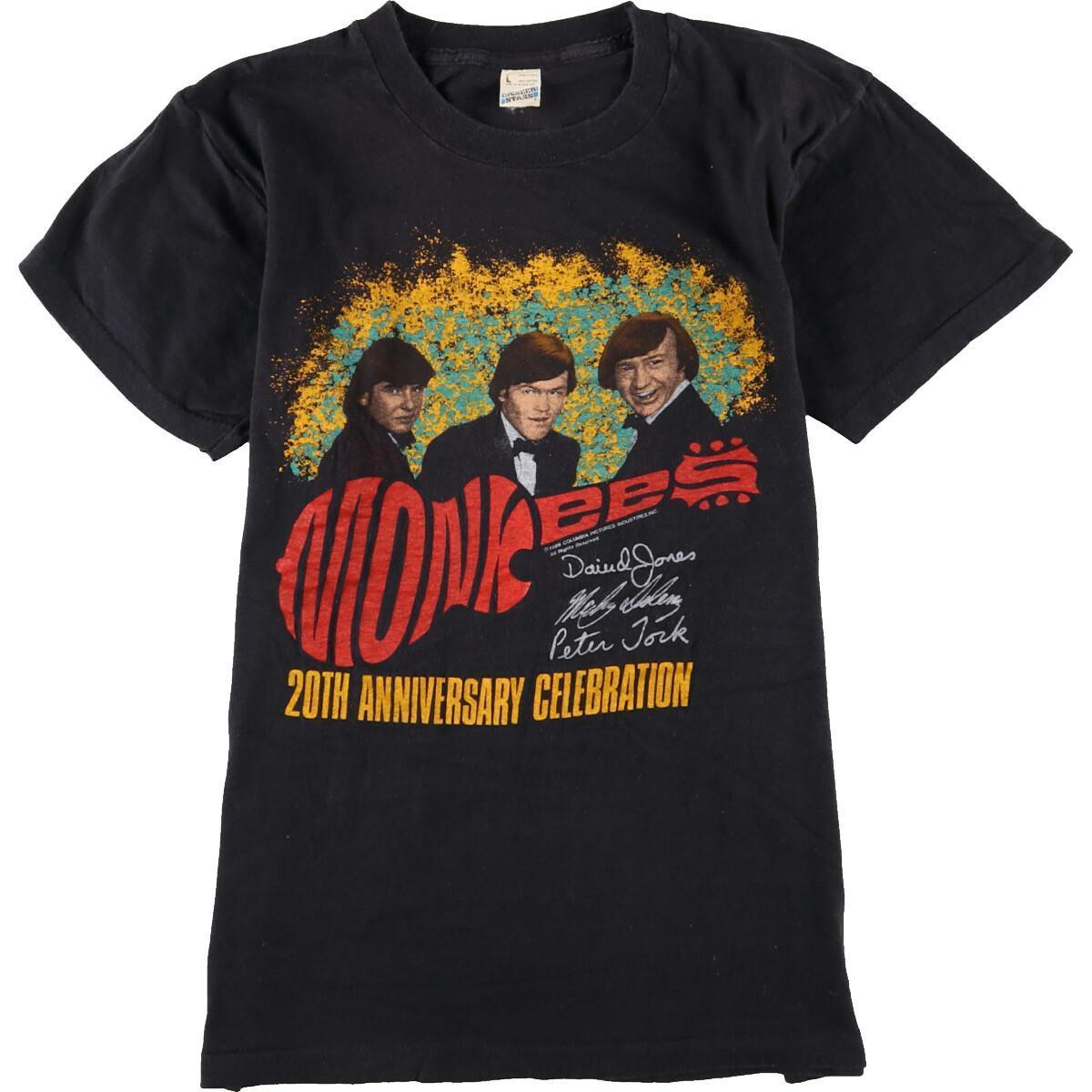 80年代 スクリーンスターズ SCREEN STARS MONKEES モンキーズ 20TH ANNIVERSARY CELEBRATION WORLD TOUR バンドTシャツ USA製 メンズS ヴィンテージ /eaa061056 【中古】 【200717】