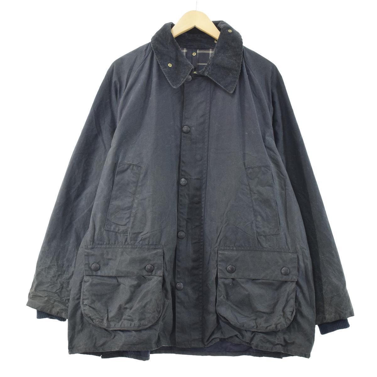90年代 バブアー Barbour BEDALE ビデイル ワックスコットン 旧3ワラント 中古 201129 C44 英国製 eaa096912 半額 オイルドジャケット メンズL 倉