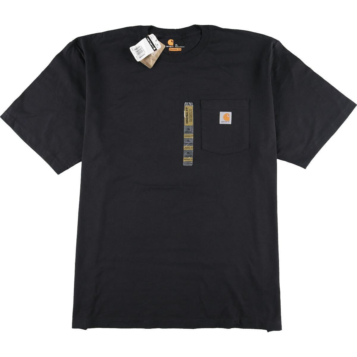DEAD STOCK デッドストック カーハート 新登場 Carhartt ORIGINAL ワンポイントロゴポケットTシャツ 210503 中古 FIT 豊富な品 メンズXXL eaa158672