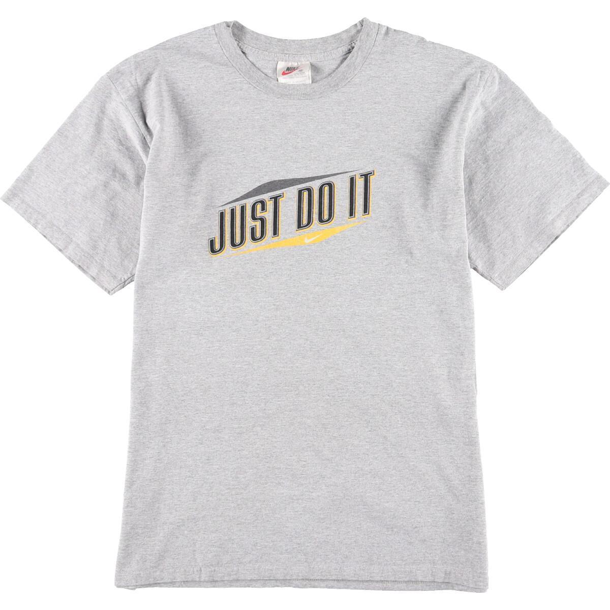 90年代 ナイキ 早割クーポン NIKE JUST DO IT メンズL eaa155556 ヴィンテージ 中古 お買い得品 ロゴプリントTシャツ 210507