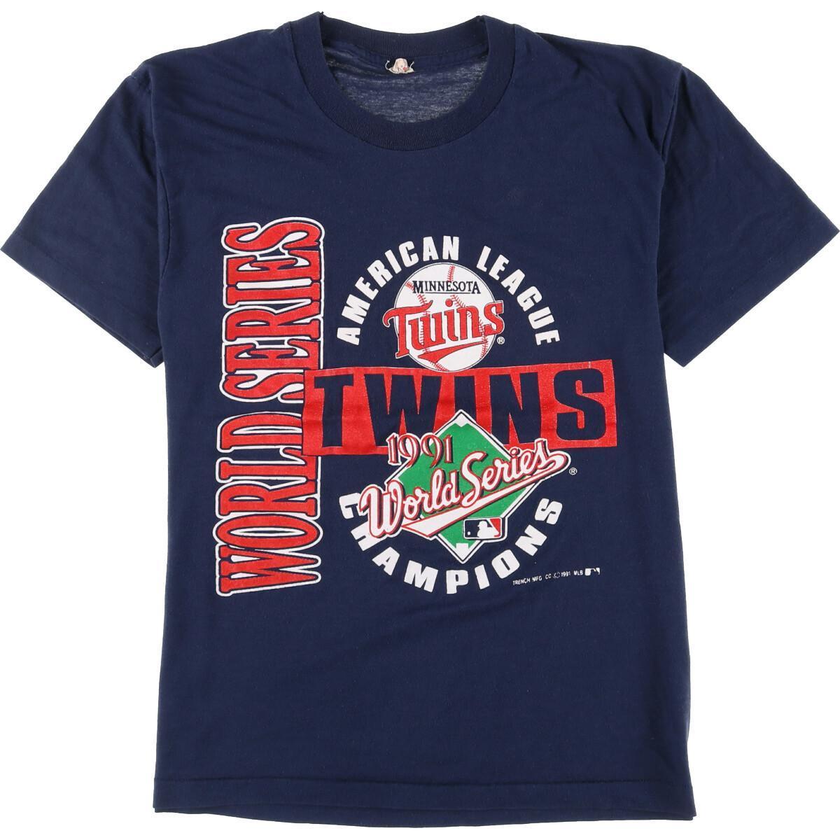 90年代 スクリーンスターズ SCREEN STARS MLB MINNESOTA TWINS ミネソタツインズ 価格交渉OK送料無料 中古 210522 ヴィンテージ 流行のアイテム メンズS スポーツプリントTシャツ eaa162561 USA製