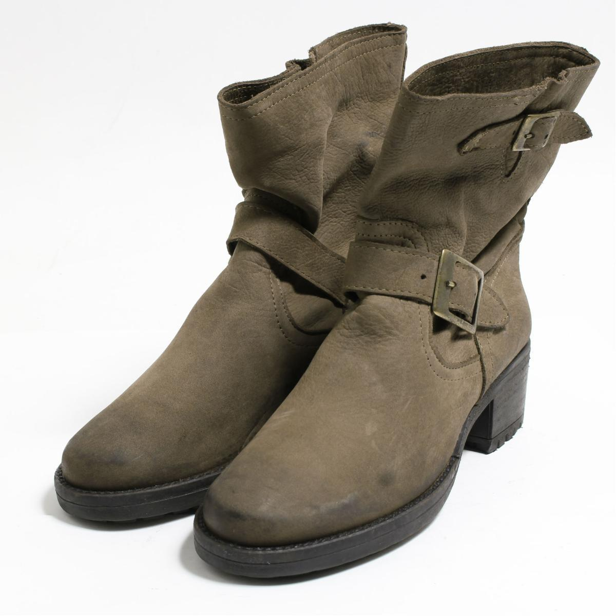 9b97b85101c 38 Lady's 24.0cm /boo3263 made in short engineer boots Italy