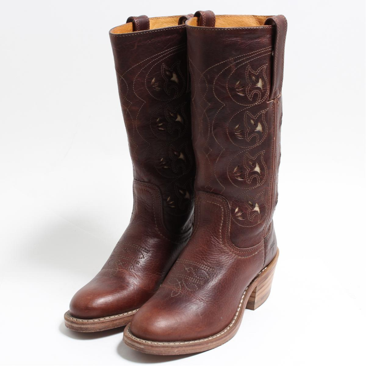 e3531538ec1 5.5M Lady's 22.5cm /boo3588 made in fried food FRYE western boots USA