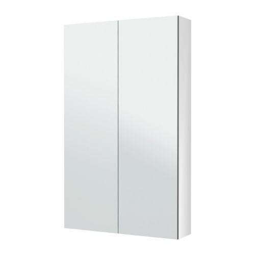 【★IKEA/イケア★】GODMORGON ミラーキャビネット 扉2枚付き 60x14x96 cm/702.190.00