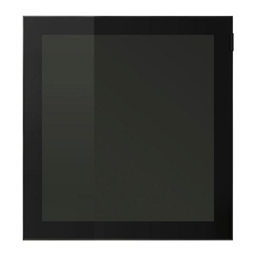【★IKEA/イケア★】GLASSVIK ガラス扉 ブラック/スモークガラス/702.916.61