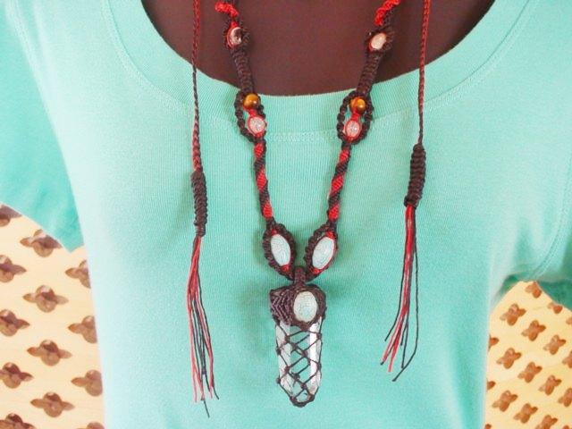 パワーストーン/天然石 アジアンファッションヒッピースタイル アクセサリー*クリスタル ネックレス