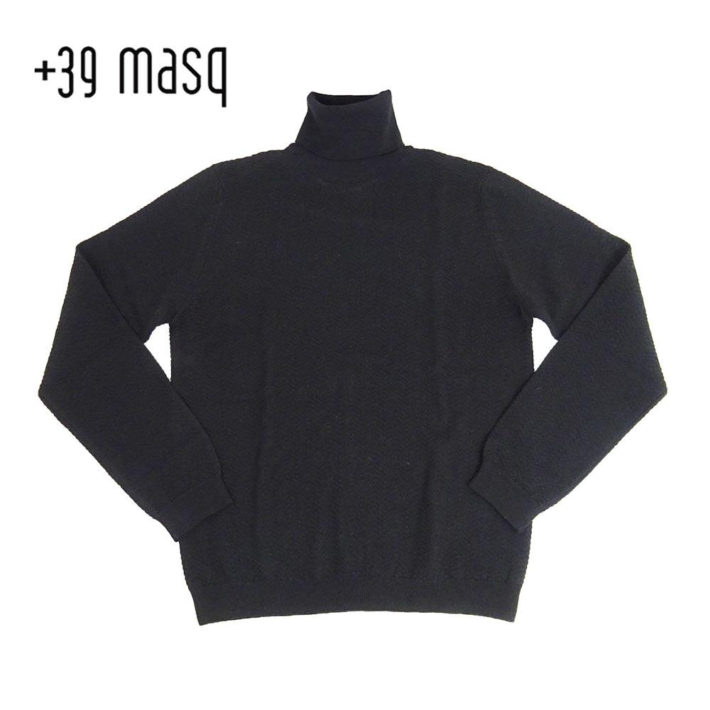 【50%OFF】+39 masq (マスク) タートルネックセーター [メンズ] 4101【BLK(900)/S・M・L・XL・XXLサイズ】 ブラック メリノウール イタリア製【あす楽】【店頭受取対応商品】