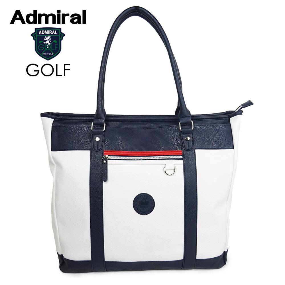 ADMIRAL GOLF (アドミラル ゴルフ) PUトート [ユニセックス] ADMZ0ST4【WHT(00)/F】ホワイト バッグ 小平智