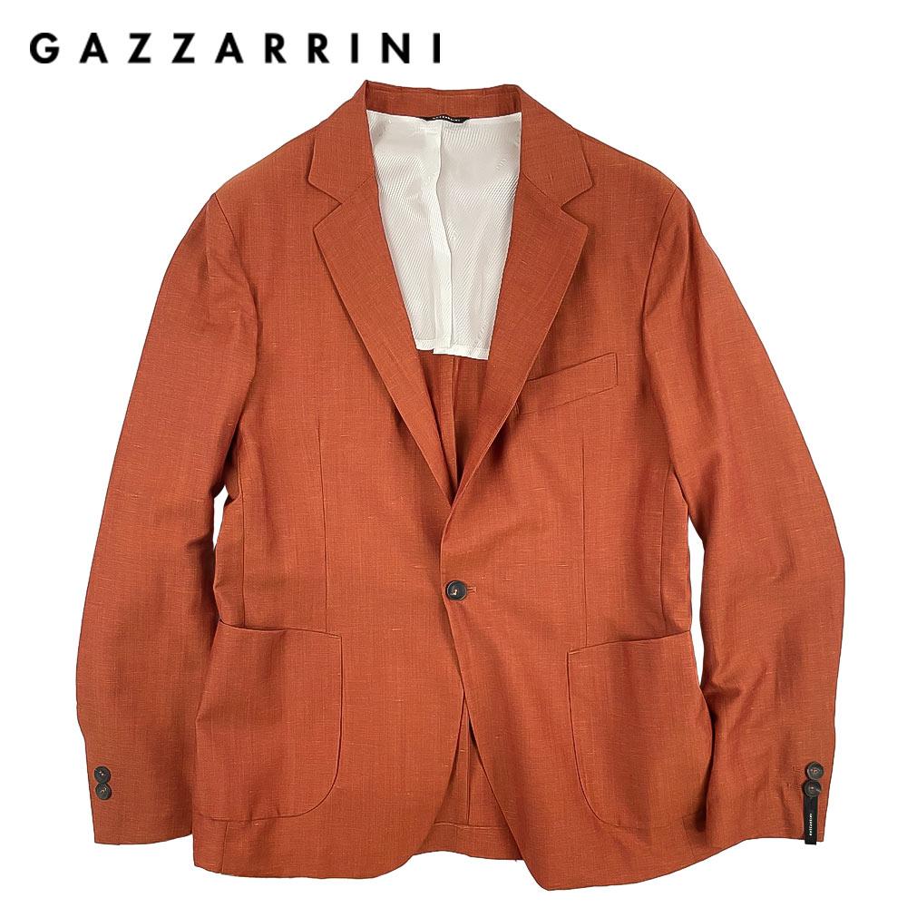【40%OFF】GAZZARRINI(ガッザリーニ) シングルジャケット [メンズ] GAE78G【ORG/46・48・50・52・54サイズ】テコラッタ ブラウンオレンジ リネン 麻混 イタリア製【店頭受取対応商品】【あす楽】