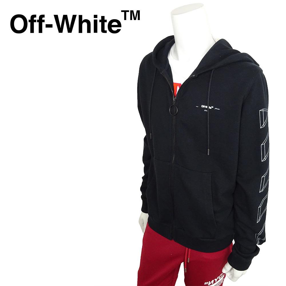 オフホワイト off−white メンズ 2018年秋冬新作 ブラック トレーナー 黒 ヴァージル・アブロー フーディー ストリート OFF-WHITE プルオーバー パーカー カジュアル オーバーサイズ 3D MARKER ARROWS HOODIE Hooded Sweatshirt 18FW 18AW ブラッシュアロー スウェット