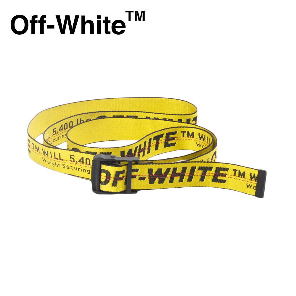 2019AW Off-White (オフホワイト) YELLOW INDUSTRIAL BELT [メンズ] RB012E1964-7002/6000【YLW BLK/F】ロングベルト イエロー イタリア製【店頭受取対応商品】