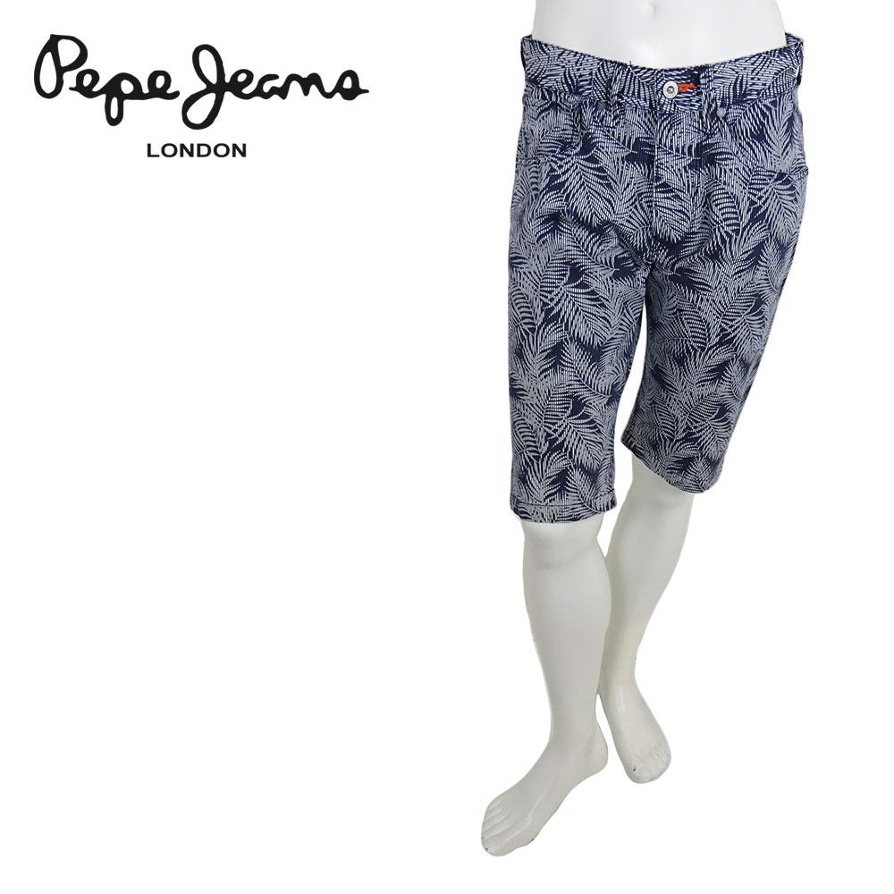 【40%OFF】Pepe Jeans (ペペジーンズ) ボタニカル柄ショーツ [メンズ] PM800715 CASH SHORT LEAF 【NVY(561)/29・30・31.・32・34サイズ】 ハーフパンツ サーフ バミューダ スリムフィット【店頭受取対応商品】【あす楽】