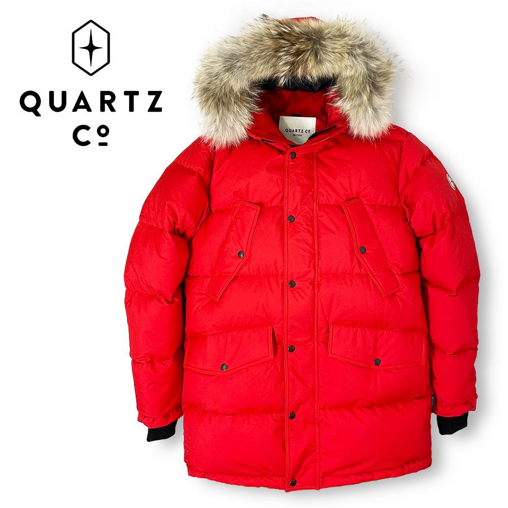 【50%OFF】QUARTZ (クォーツ) フーデッドダウンジャケット [メンズ] LUTSE 38730【RED/M・L・XL・XXLサイズ】レッド ファー セミスリムフィット カナダ製【あす楽】【店頭受取対応商品】