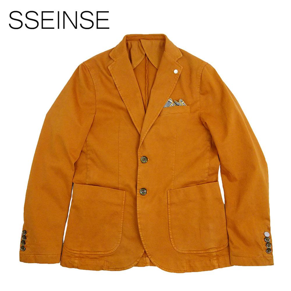 【50%OFF】SSEINSE (センス) シングルジャケット [メンズ] GAI531SS【Red Brick/48・50・54サイズ】テーラードジャケット コットンジャケット ストレッチ イタリア製【あす楽】【店頭受取対応商品】