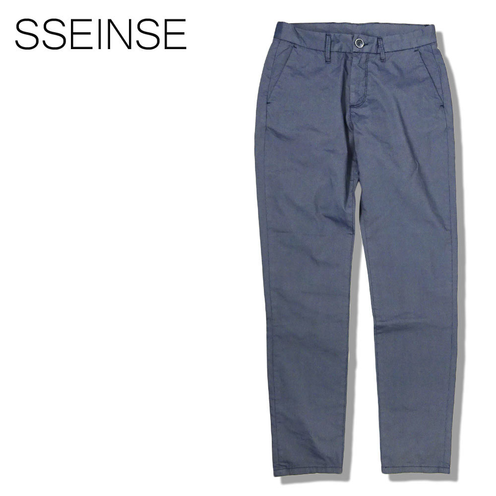 SSEINSE (センス) スリムフィット パンツ [メンズ] PSE569SS【NVY/44・46・48・50・52サイズ】ネイビー チノパン ストレッチ