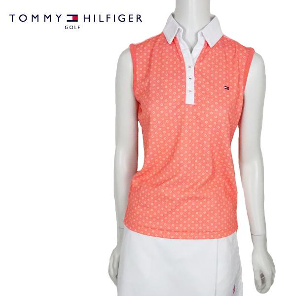 【ポイント2倍11/14水曜限定】【ネコポス対応】TOMMY HILFIGER GOLF(トミーヒルフィガー ゴルフ) ノースリーブポロシャツ [レディース] THLA852【PNK(45) /S・M・Lサイズ】 ピンク