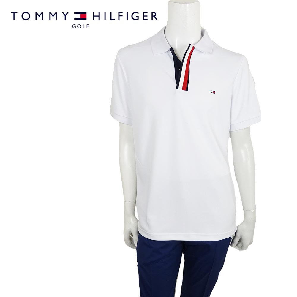 【20%OFF】【ネコポス対応】TOMMY HILFIGER GOLF (トミーヒルフィガー ゴルフ) 半袖 ポロシャツ [メンズ] THMA912 S/S POLO SHIRT【WHT(00)/M・L・LL・XLサイズ】ショートスリーブ  UVカット 吸水速乾【店頭受取対応商品】【あす楽】