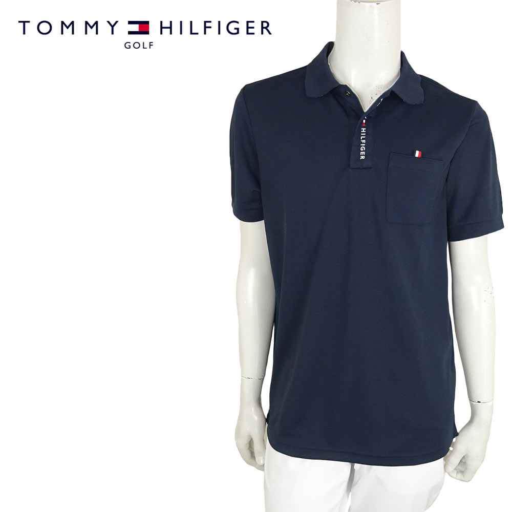 Tommy Hilfiger Men Custom Fit Polo T-shirt M, Navy