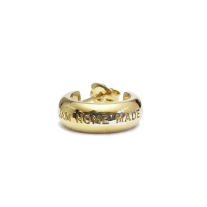 JAM HOME MADE ジャムホームメイド ラウンドダイヤモンドピアス -GOLD- / 片耳 シルバー 925 フープ シンプル ロゴ 小さめ 刻印 ユニセックス メンズ レディース 男性 女性 人気 プレゼント 金 ゴールド