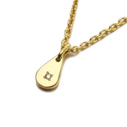 JAM HOME MADE ジャムホームメイド ラブモッズネックレス S ペア アクセサリー シルバー 925 silver ゴールド ダイヤモンド シンプル リアル 本物 love レディース 女性 プレゼント 雫 ティア 小さい 小ぶり 石 ストーン