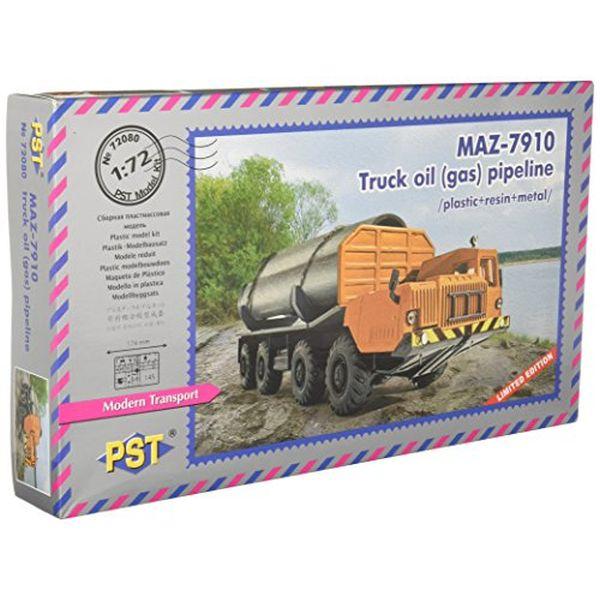 PST 1/72 ロシア MAZ-7910超大型トラック パイプライン運搬型 プラモデル PS72080