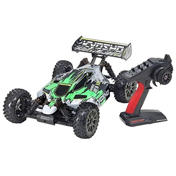 京商 1/8スケール ブラシレスパワード 4WD レーシングバギー インファーノ NEO 3.0 VE カラータイプ1 グリーン KT-231P+付 34108T1