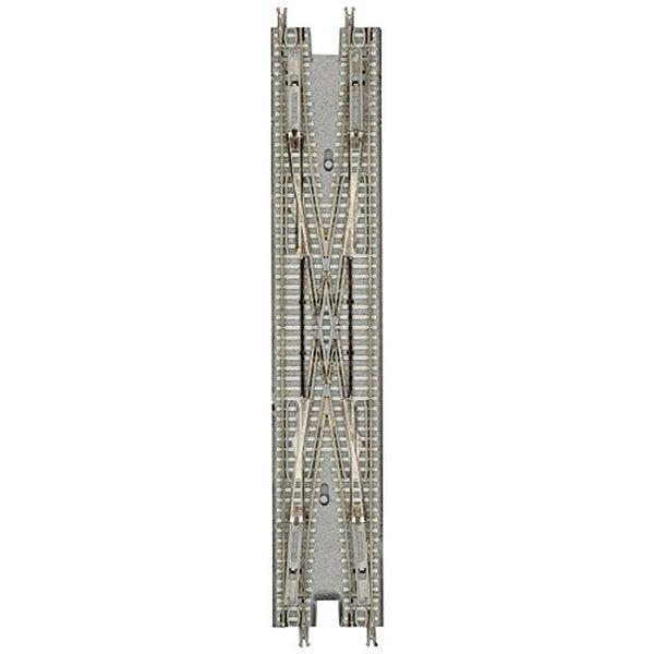 Zゲージ R082 電動複線両渡りポイント グレー