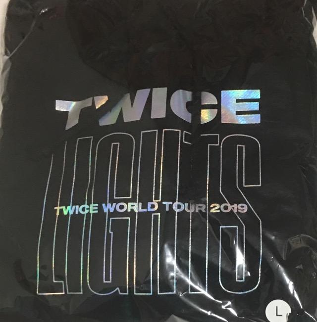 【新品】TWICE 2019・・【ビッグフーディ】・ パーカー 黒 L・TWICE WORLD TOUR 2019 'TWICELIGHTS' IN JAPAN・・