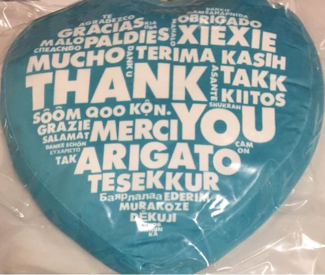 """【新品】赤西仁 2019・【クッション】・・JIN AKANISHI """"THANK YOU"""" TOUR 2019 最新ソロコンサート会場販売グッズ"""
