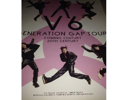 V6 concert brochure GENERATION GAP TOUR