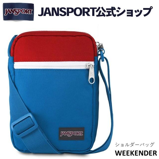 JANSPORT公式ショップ メーカー保証付 JANSPORT ショルダーバッグ ジャンスポーツ WEEKENDER -RED WHITE BLUE - JS0A3C4G52Y レッド ブルー 斜め掛け ジャンスポ ミニショルダー ショルダーポーチ 斜めかけ 新作通販 受賞店 赤 レディース メンズ 青 斜めがけ ブランド ポーチ