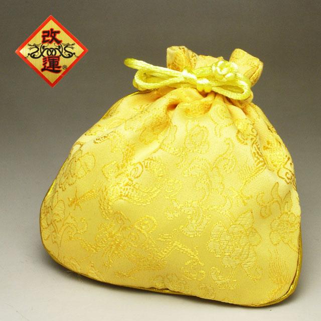 買い取り 刺しゅう入り巾着 大放出セール 黄