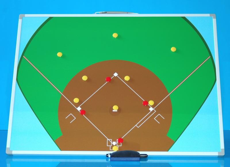 野球用作戦盤M(600x450)サイズ カラー Bタイプ 横型