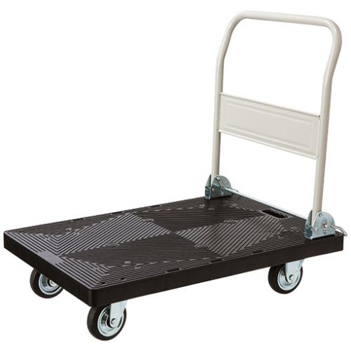 【送料無料】【法人(会社・企業)様限定】自立式静運樹脂台車 300kg荷重 1台