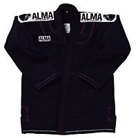 【送料無料】ALMA スーパーノヴァ 国産柔術着 黒 A0号【スポーツ館】