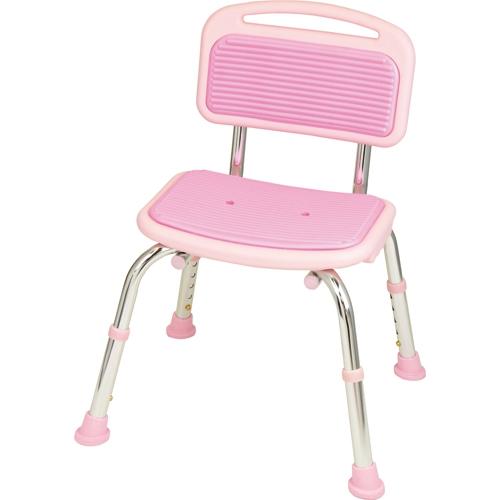 【キャッシュレス5%還元】幸和製作所 テイコブ シャワーチェア(背付) ピンク 1台