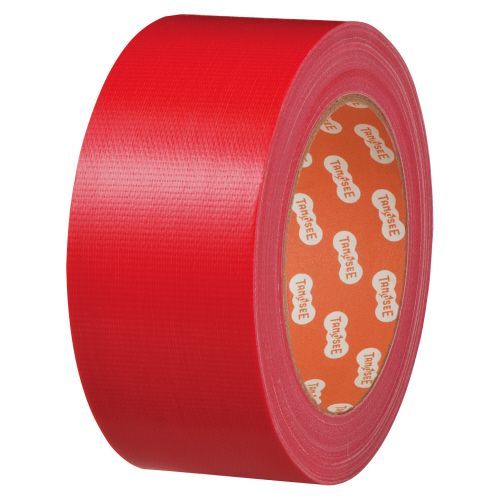 1セット(30巻) 赤 【送料無料】【法人(会社・企業)様限定】布テープ(カラー) 50mm×25m