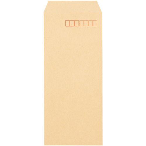 【キャッシュレス5%還元】クラフト封筒 テープ付 長40 70g/m2 〒枠あり 1セット(3000枚:1000枚×3箱)