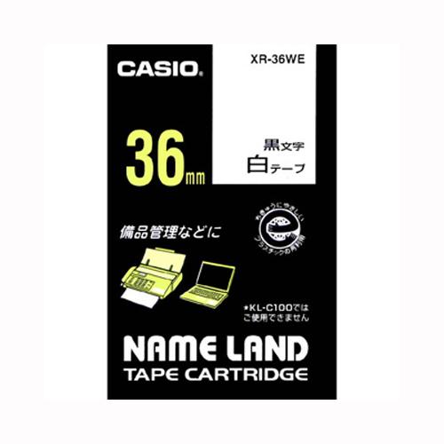 ★まとめ買い★カシオ ネームランドテープ XR-36WE ×10個【返品・交換・キャンセル不可】【イージャパンモール】