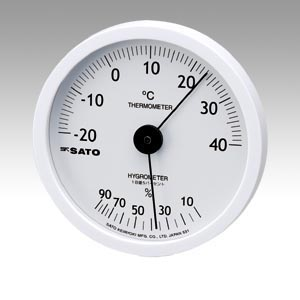 【キャッシュレス5%還元】★まとめ買い★佐藤計量器 温湿度計 ホワイティ 1022-00 ×10個【返品・交換・キャンセル不可】【イージャパンモール】
