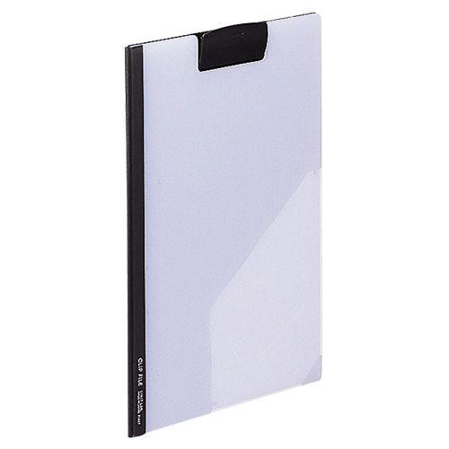 【キャッシュレス5%還元】LIHIT LAB クリップファイル 片面透明タイプ A4 黒 1セット(10枚)