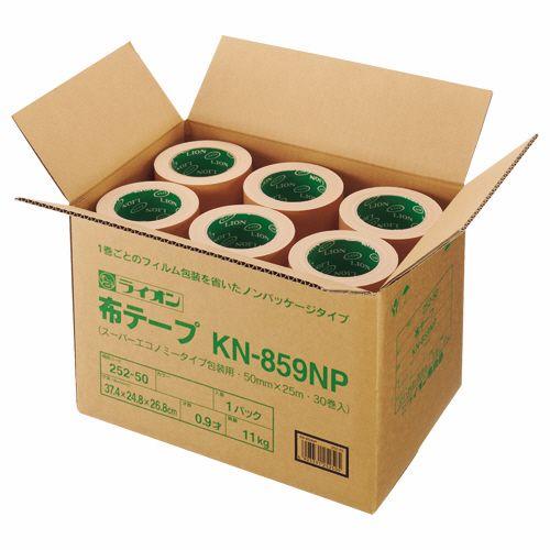【キャッシュレス5%還元】ライオン事務器 布テープ ノンパッケージ 50mm×25m 1箱(30巻)