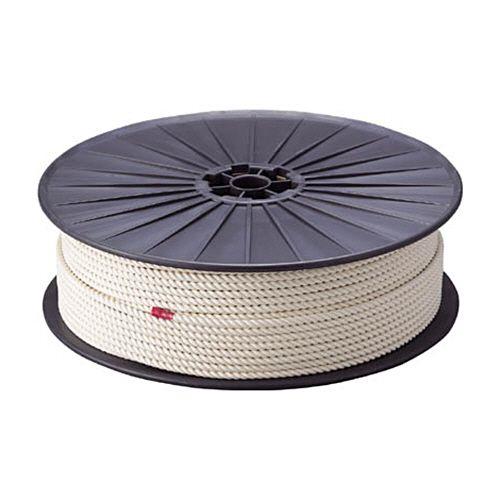 【キャッシュレス5%還元】TRUSCO 綿ロープ 3つ打 線径12mm×長さ100m ボビン巻 1巻