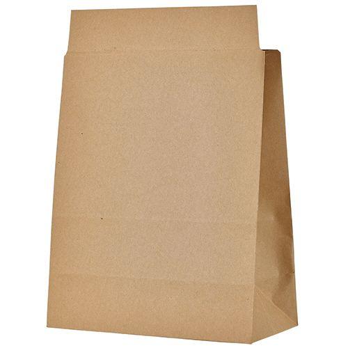 【キャッシュレス5%還元】宅配袋 マチ広 小 茶 封かんテープ付 1セット(400枚:100枚×4パック)