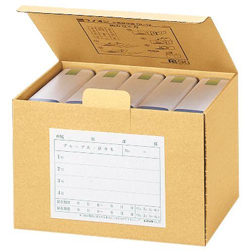 【キャッシュレス5%還元】【送料無料】【法人(会社・企業)様限定】ライオン事務器 文書保存箱 A4用 内寸W323×D200×H256mm 1セット(20個)