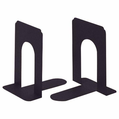 【キャッシュレス5%還元】【送料無料】【法人(会社・企業)様限定】ライオン事務器 ブックエンド T型 中 ブラック 1セット(20枚:2枚×10組)