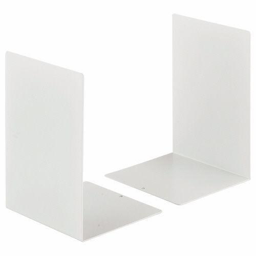 ライオン事務器 ブックエンド 大 ホワイト 1セット(20枚:2枚×10組)